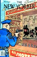 "Read ""Another Rush to Judgment"", article about the Diallo shooting in NYC, first published in American Police Beat May 1999. (Cover image copyright 1999 The New Yorker depicts a police officer shooting at ""citizen targets"" with caption ""41 shots 10 cents"")"